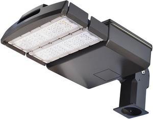 Čierne LED verejné svietidlo 100W VO neutrálna biela