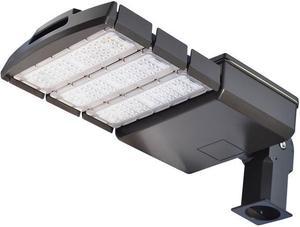 Čierne LED verejné svietidlo 150W VO neutrálna biela