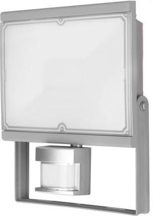 Šedý LED reflektor s PIR snímačom 30W Vana neutrálna biela