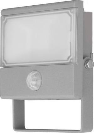 Šedý LED reflektor s PIR snímačom 10W Vana neutrálna biela