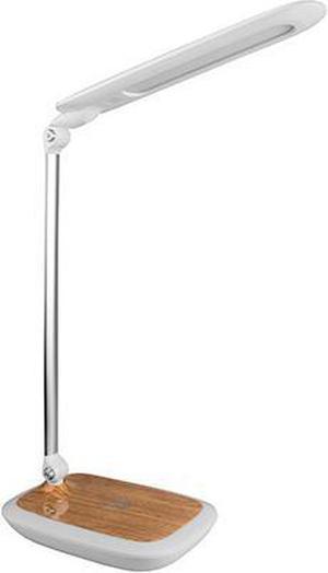 Biela LED stolná lampička 17W diplomat light s bezdrátovým nabíjaním