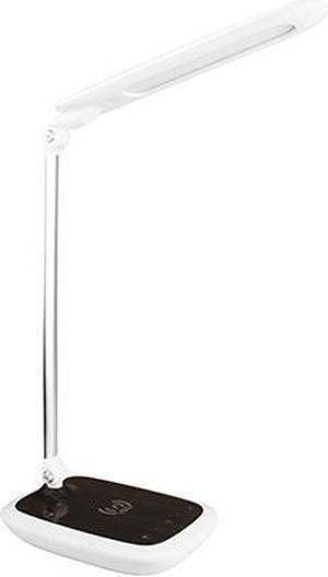 Biela LED stolná lampička 17W diplomat dark s bezdrátovým nabíjaním
