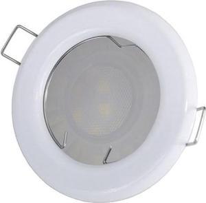 Biele vstavané podhledové LED svietidlo 7,5W teplá biela IP20 230V