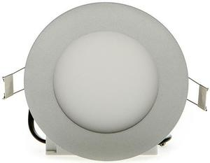 Strieborný kruhový vstavaný LED panel 145mm 10W studená biela