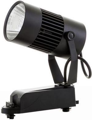 Čierny lištový LED reflektor 20W neutrálna biela