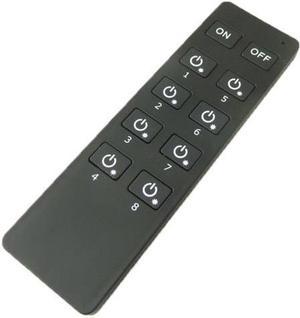 Čierny RF dálkový ovladač 8 kanálů