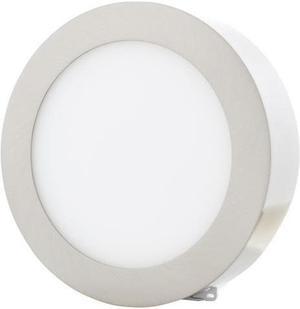 Stmievateľný chrómový kruhový prisadený LED panel 225mm 18W teplá biela