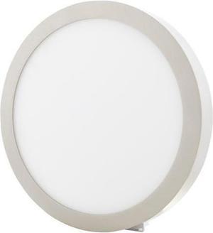 Stmievateľný chrómový kruhový prisadený LED panel 300mm 25W teplá biela