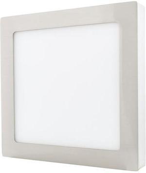 Stmievateľný chrómový prisadený LED panel 175 x 175mm 12W teplá biela