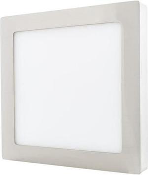 Stmievateľný chrómový prisadený LED panel 225 x 225mm 18W teplá biela