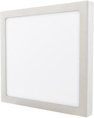 Stmievateľný chrómový prisadený LED panel 300 x 300mm 25W teplá biela