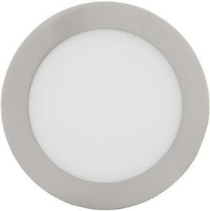 Stmievateľný chrómový kruhový vstavaný LED panel 175mm 12W teplá biela
