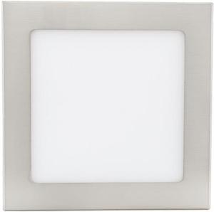 Stmievateľný chrómový vstavaný LED panel 175 x 175mm 12W teplá biela