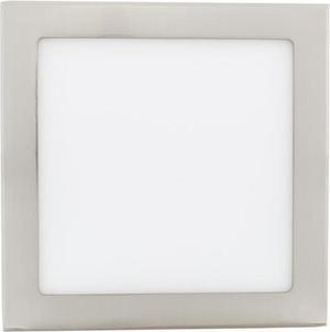 Stmievateľný chrómový vstavaný LED panel 225 x 225mm 18W teplá biela