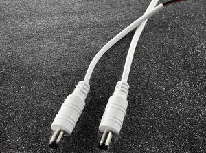 DC konektor napájací s káblom farba biela (samec) 14cm