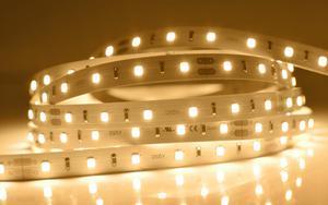 LED pásik 12W/m vnútorný záruka 5 rokov teplá biela 24V