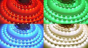 24V RGBW4v1 neutrálna biela 19,2W vnútorné LED pásik 24V