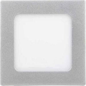 Stmievateľné strieborný vstavaný LED panel 120 x 120 mm 6W studená biela