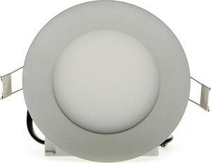 Stmievateľné strieborný kruhový vstavaný LED panel 120mm 6W neutrálna biela