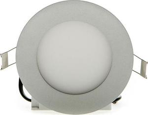 Stmievateľné strieborný kruhový vstavaný LED panel 120mm 6W teplá biela