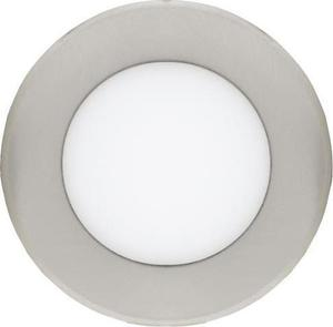 Stmievateľné Chrómový kruhový vstavaný LED panel 120mm 6W teplá biela