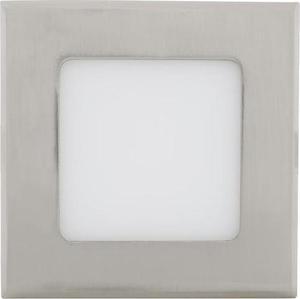 Stmievateľné Chrómový vstavaný LED panel 120 x 120mm 6W teplá biela