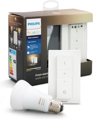 Philips HUE LED žiarovka E27 9,5W 806lm 3000 6000K + dimmer sWitch