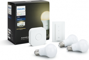Philips HUE 3x LED žiarovka E27 9,5W 806lm 2700K + bridge + sWitch