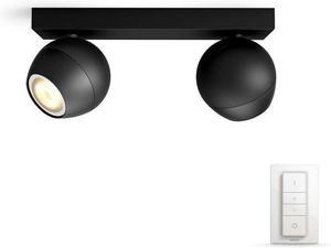 Philips HUE Buckram svietidlo bodové LED GU10 2x5,5W 2x250lm 3000 6000K čierna 50472/30 / P7