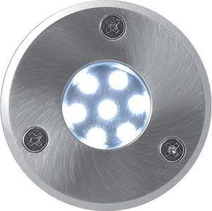 Pojazdové zemné LED svietidlo 1W studená biela 48mm