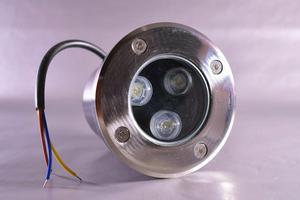 Pojazdové zemné LED svietidlo 1W studená biela 42mm