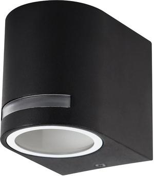 Čierne vonkajšie malé zaoblené nástenné osvetlenie 10W neutrálna biela