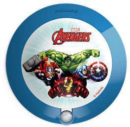 Disney Avengers noční svít. so senzorom LED 0,06W bez batérií