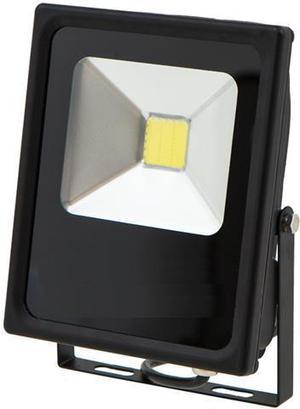 Čierny LED reflektor 12V 20W biela