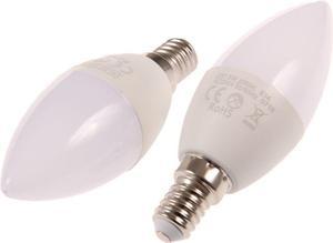 LED žiarovka E14 SVC37 5W sviečka teplá biela