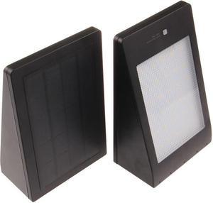 LED solárne svietidlo MURO čierne teplá biela