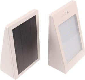 LED solárne svietidlo MURO biele neutrálna biela