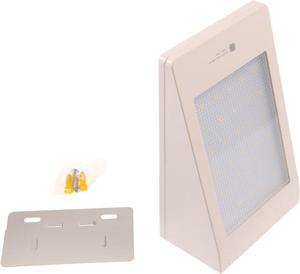 LED solárne svietidlo MURO biele studená biela