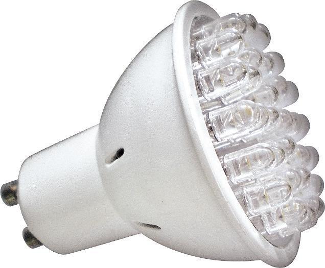 LED žiarovka GU10 1,5W LED30 studená biela