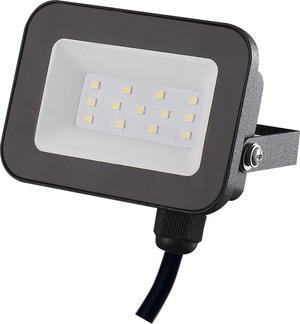 Čierny LED reflektor 10W SMD studená biela