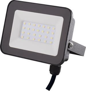 Čierny LED reflektor 20W SMD studená biela