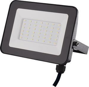 Čierny LED reflektor 30W SMD studená biela