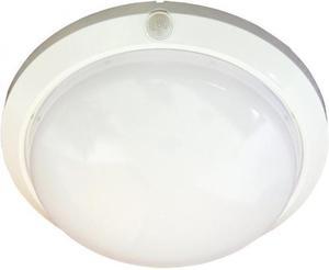 Stropné svietidlo s čidlom biele, IP44 max 60W