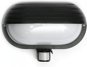 Čierne LED stropné svietidlo 10W neutrálna biela IP44 s čidlom