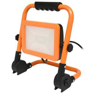 Oranžový LED reflektor so stojanom 100W neutrálna biela