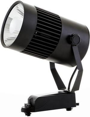 Schwarzer Phasen Schiene LED Strahler 30W Warmweiß