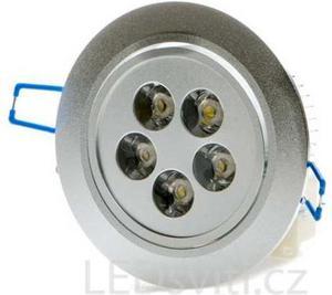 LED Spotlicht 5x 1W Kaltweiß