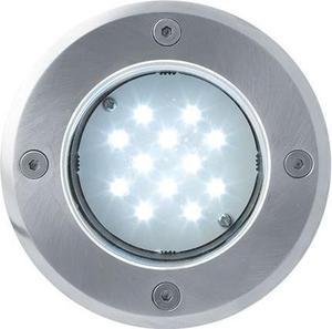 Boden einbaustrahler LED Lampe 230V 1W 12LED Kaltweiß