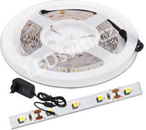 LED Streifen 4,8W/m ohne Schutz weisse kompletter Satz 5m