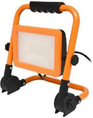 Orangener LED Strahler mit Staender 20W Tageslicht